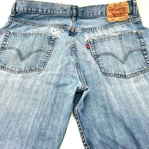 Levis 569 Jeans Size 36X32 Loose Straight Holes